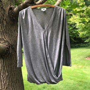 Old Navy Wrap Front 3/4 Sleeve top